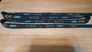 Kostrup weaving with threads trimmed