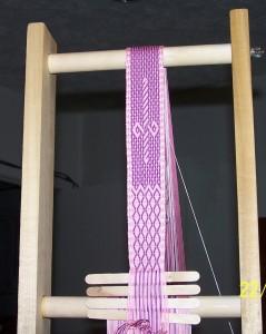 Dagger on a pink belt
